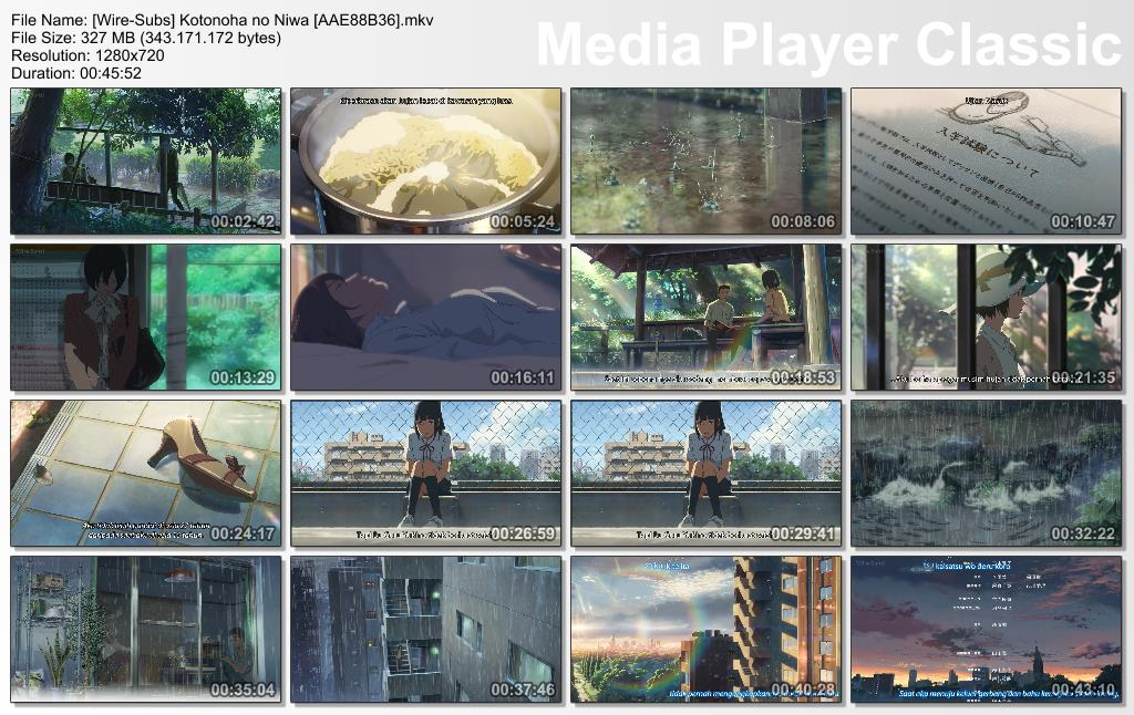 Kotonoha no Niwa Subtitle Indonesia